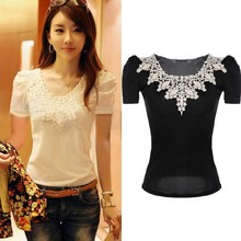 Stylish Women's women s lace clothing 2015 summer blouses new design Tops SV014662