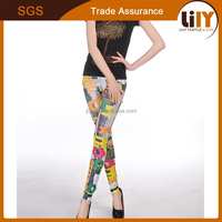 OEM printed legging school girls pictures sexy pantyhose leggings work out