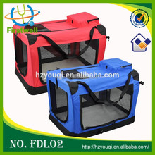 Folding Pet Soft Blue Portable Travel Carrier Dog Crate
