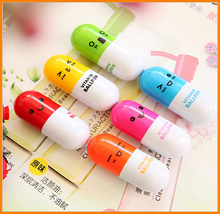 Cheap expression pills capsule pen ballpoint pen Korea stationery expression can be customized LOGO advertising
