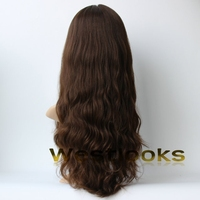 High Quality 24 Inch 100% Human Hair Skin Top Kosher Wig Front Lace Makers