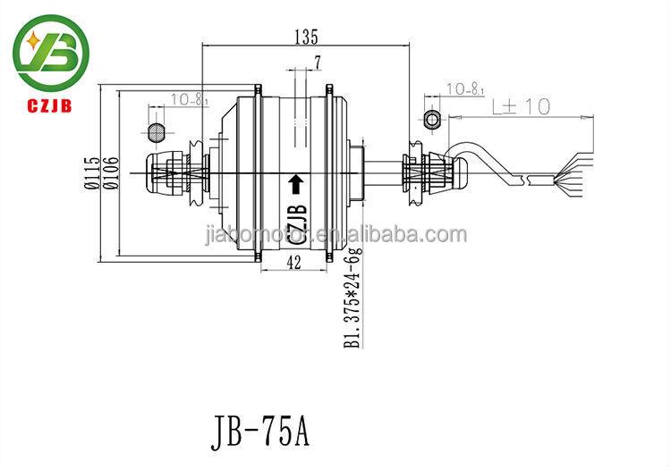 Jb-75a elektrische wasserdicht high-speed-mini 36v 250w bürstenlosen dc-motor
