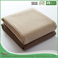 High quality kantha airline thin blanket microfiber filling fabric cotton quilt