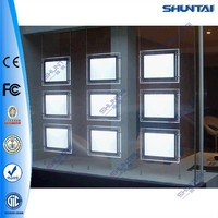 Easy intalltaion indoor picture hanging led advertising panel