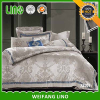 cotton jacquard satin fabric double cot bed designs/spanish style bedding