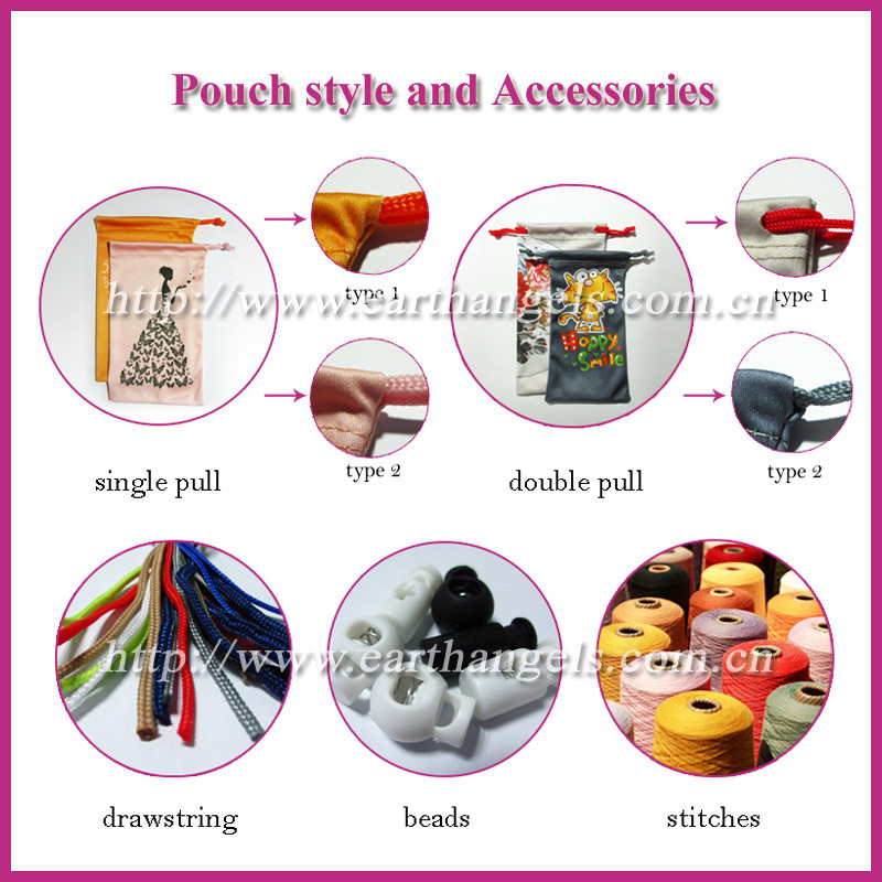 sublimation printing microfiber eyewear lens cleaning cloth pouch, glasses bags