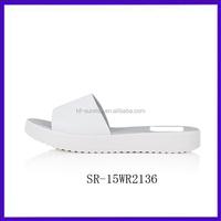 SR-15WR2136 china cheap wholesale slippers fashion women pvc plastic wholesale slippers new design flat sandals for women