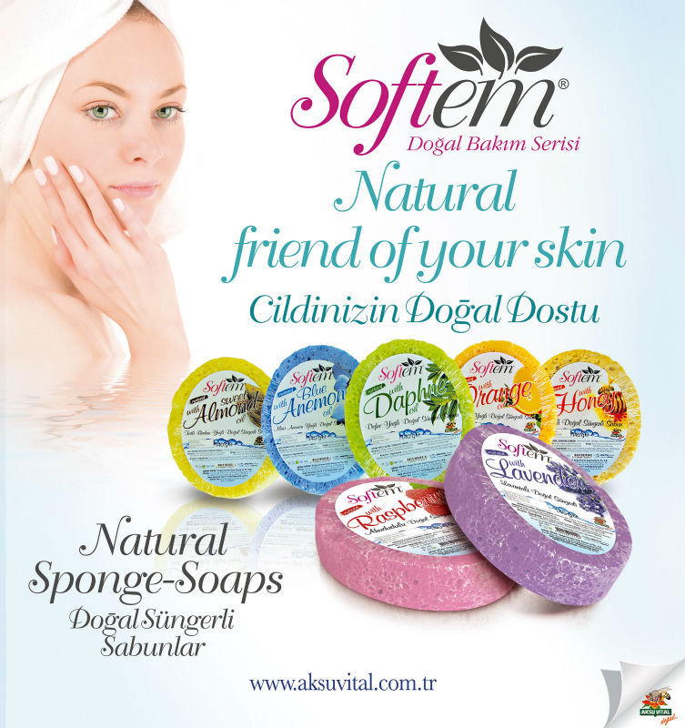 Magic Sponge For Men Bath With Laurel Daphne Oil Soap Gmp