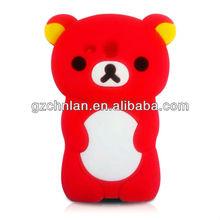 3d silicon animal case for iphone 5 3D Bear design silicon case