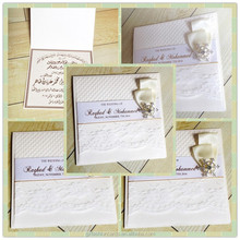 2014 caliente de la venta elegante tarjeta de invitación para árabe de la boda