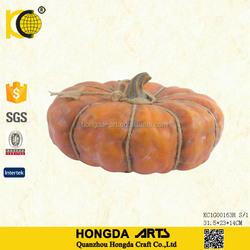 12.5 Inch Harvest Rope Ceramic Thanksgiving Decorative Pumpkins