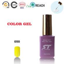 Maíz amarillo del gel ultravioleta del clavo de soak off gel uv nail polaco