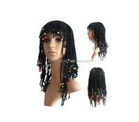 220 g a fancy dress party show props wig Egyptian queen cleopatra wig pigtails wig