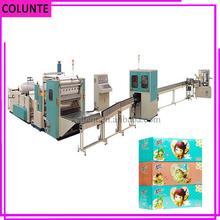 Tejido húmedo compresa sanitaria scott higiénico máquina de embalaje de papel línea de producción