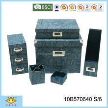 Hot Sale Metal Trim Durable Handmade Paper Office Stationery List