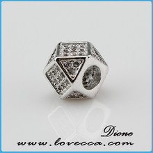fashion hot selling micropave setting jewelry, dice shape perfect copper micropave pendant ,shiny charming jewelry pendant