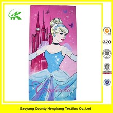Promotional Digital printed cute girls Microfiber beach towel