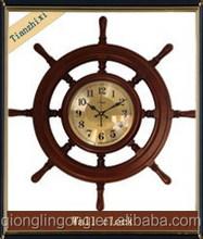 wooden digital classical steering wheel wall clock