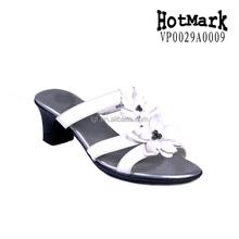European fashion women shoe new product dress shoes for women black square heel sandals