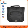 top quality double-deck large hanging black toiletry bag