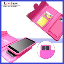 5.5 inch fashion leather universal flip phone case for smartphone
