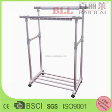height auto adjustable double pole aluminum hanging clothes drying rack