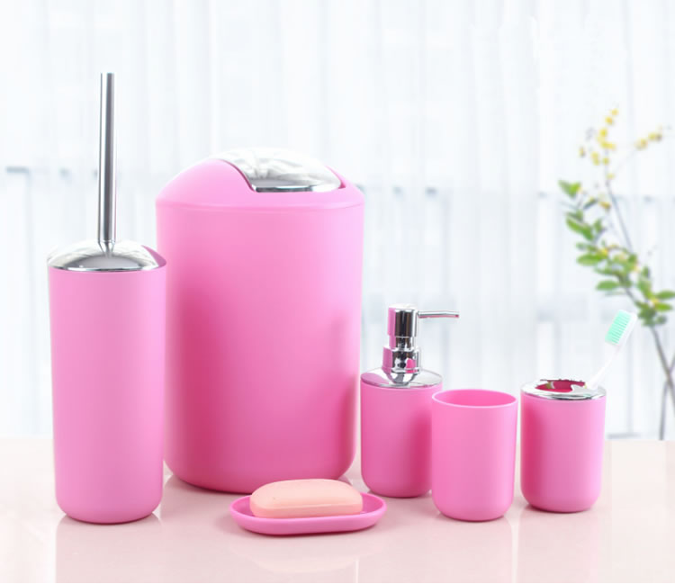 Gentil Hot Selling Pink Bathroom Accessories Set For Home And Hotel Use