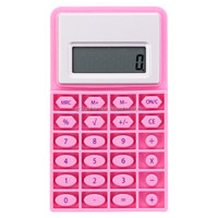 Promotional gifts rubber mini pocket calculator