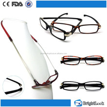 2015 Trendy unisex style PC frame with temple bottom Magnet reading glasses