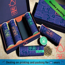 high quality luxe design cardboard paper tea packaging box foldable