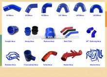 45 degree blue flexible silicone hose elbow