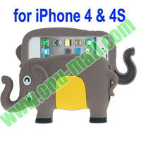 Lovely Elephant 3D Silicon Animal Case for iPhone 4S & 4