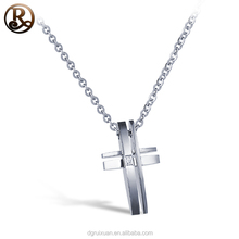 Hot sale cross products wholesale stainless steel cross pendant necklace jewelry with Hollow