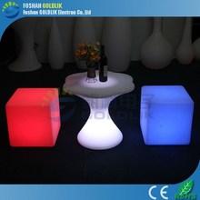 GLACS Control LED Cube Stool Bar Stool Footrest Covers Plastic Cube