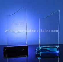 En blanco tradicional Crystal placa del premio trofeo