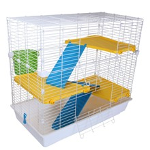Four Storeys Foldable Metal Rabbit Cage, Squirrel Cage, Small Pets Cage