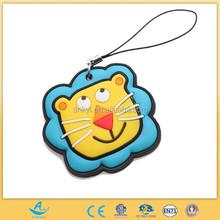 Customized Soft PVC Animal Keychain Lion Shape Toy Key Ring