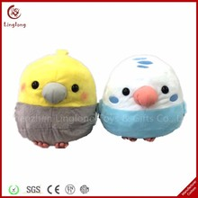 Wholesale plush different colors birdie toy stuffed cartoon bird doll soft animal shaped throw pillow