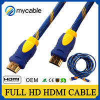 High speed male hdmi to hdmi cable,4K*2K 2160P 3D bulk hdmi cable 2.0 with Ethernet