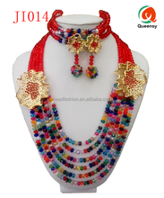 JI014 new arriving colorful design ladies fashion jewelry, high quality jewelry set
