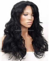 100%high quality silky straight indian human hair lace front wig