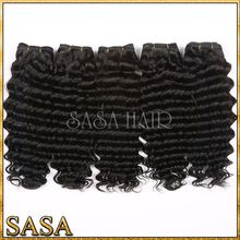 Unprocessed brazilian deep curl hair weaving,different types of wavy weave hair