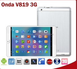 Hot 7.9 Inch onda v819i 3G Tablet Pc Android 4.2 MTK6589 Quad Core Build In Phone Call GPS Bluetooth