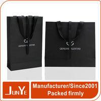 Custom printing luxury black matte retail paper bag packaging design
