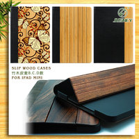 bamboo for ipad leather case / wood case for ipad /bamboo cover for ipad