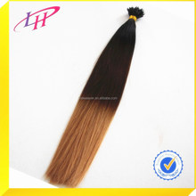 2015 Hot selling!!Micro ring loop Hair extension Two tone color ombre 100% Brazilian Virgin human hair
