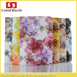 Hot ! 360 Rotating Beautiful Flowers Pattern Flip Leather Stand Case for iPad Mini & ipad 2 3 4