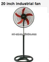 strong wind low noise 20 inch industrial fan/big stand fan/three/ five blade