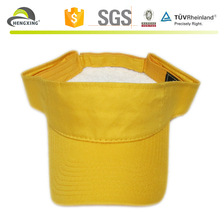 Brand yellow unisex 100% cotton sun visor