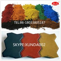 good factory sell red iron oxide and pigment yellow 130 190 110 ceramic powder for concrete color pigment